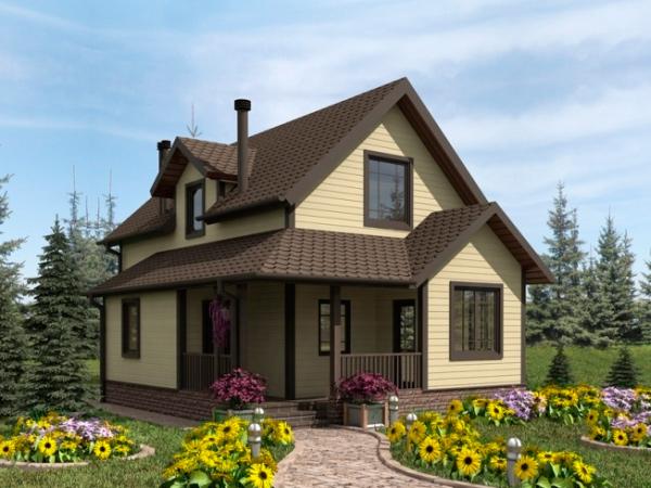Дизайн дачных домов снаружи
